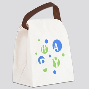 circles_itsaboy_white Canvas Lunch Bag