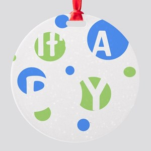 circles_itsaboy_white Round Ornament