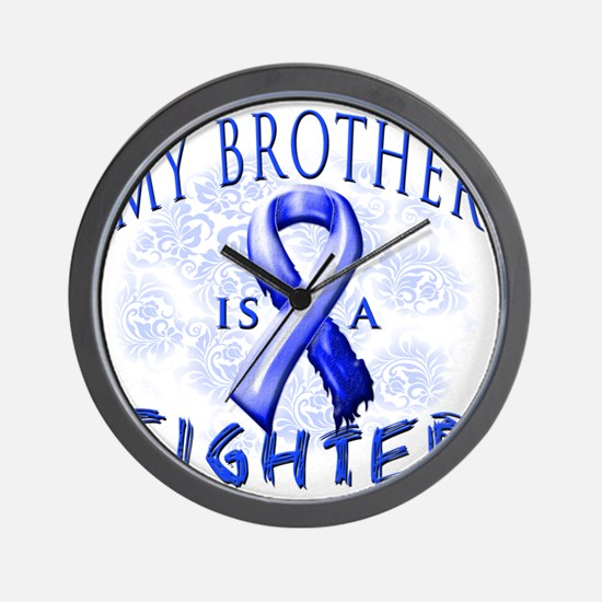 My Brother Is A Fighter Blue Wall Clock