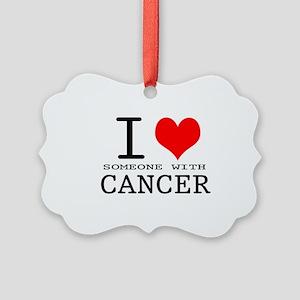 2-I Love Cancer copy Picture Ornament