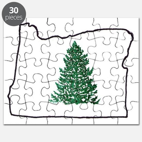 Tree in Oregon Logo Puzzle