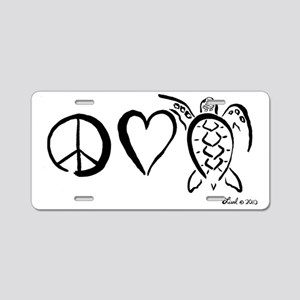 peaceturtle Aluminum License Plate