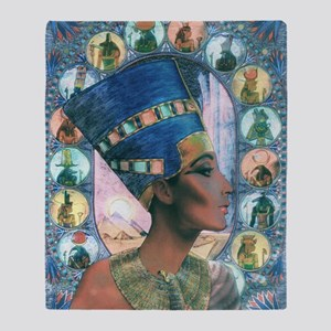7-Nefertiti Throw Blanket