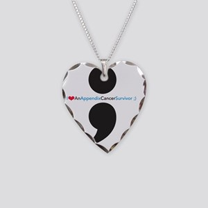 IAppendixCancerSurvivortshirt Necklace Heart Charm