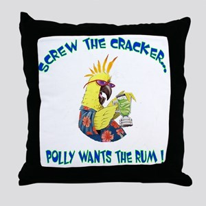 POLLY SHIRT Throw Pillow