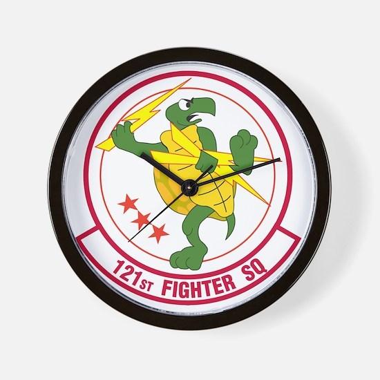 121st_fighter_sq Wall Clock