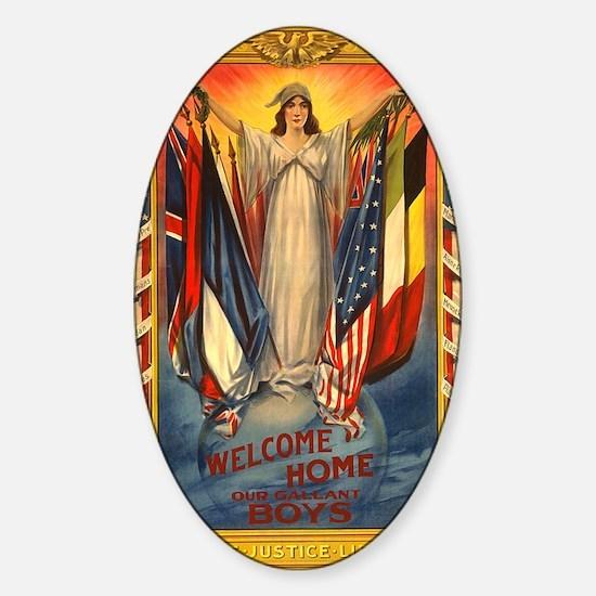 WW II 1918-- Welcome home Sticker (Oval)