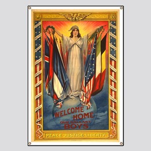 WW II 1918-- Welcome home Banner