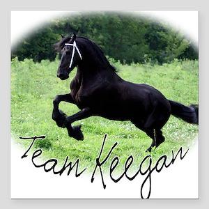 "Team Keegan Square Car Magnet 3"" x 3"""