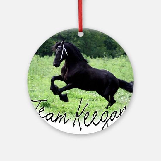 Team Keegan Round Ornament