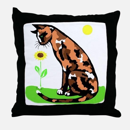 tortielrgwht Throw Pillow