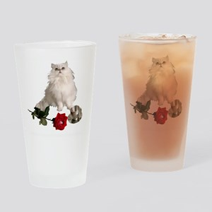 whitepersianrosewlrg Drinking Glass