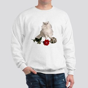 whitepersianrosewlrg Sweatshirt