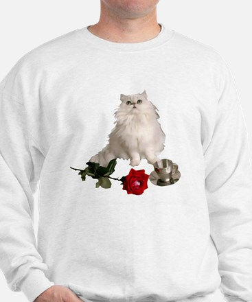 whitepersianrosewlrg Sweatshirt