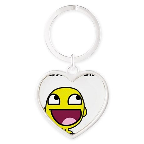 Mr. Awesome Heart Keychain