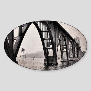 Yaquina Bay Bridge Sticker (Oval)