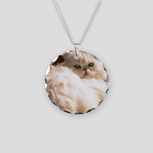 persianwht22 Necklace Circle Charm