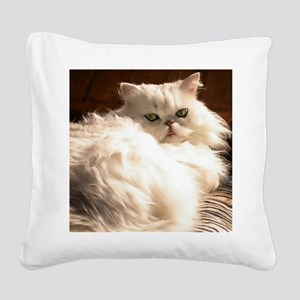 persianwht22 Square Canvas Pillow