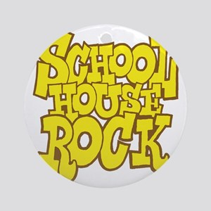 2-schoolhouserock_yellow_REVERSE Round Ornament