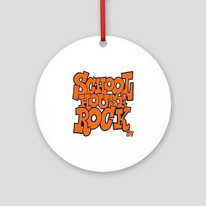 3-schoolhouserock_orange Round Ornament