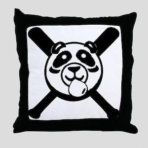 Panda 2010 comic blk2 Throw Pillow