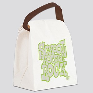 2-schoolhouserock_gray_REVERSE Canvas Lunch Bag