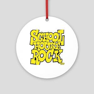 3-schoolhouserock_yellow Round Ornament