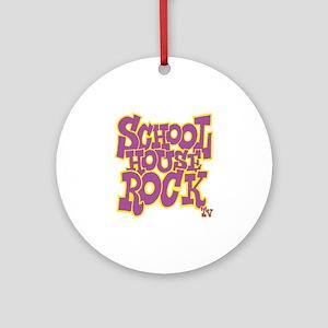 2-schoolhouserock_purple_REVERSE Round Ornament