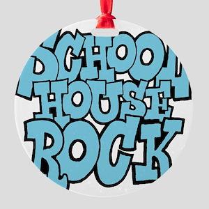 3-schoolhouserock_blue Round Ornament