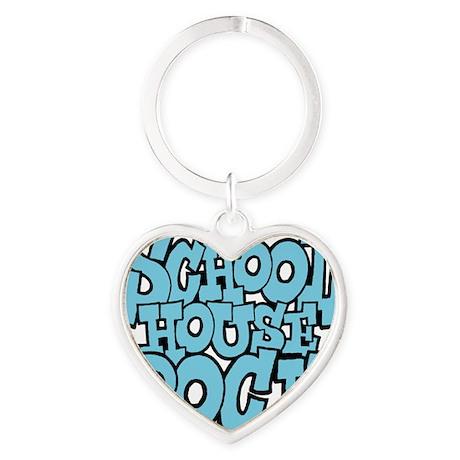 3-schoolhouserock_blue Heart Keychain