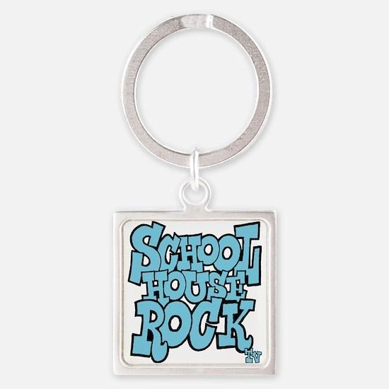 3-schoolhouserock_blue Square Keychain