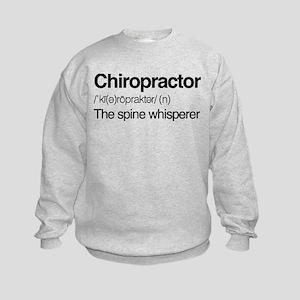 Chiropractor The Spine Whisperer Kids Sweatshirt