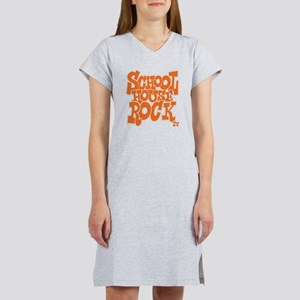 2-schoolhouserock_orange_REVERS Women's Nightshirt