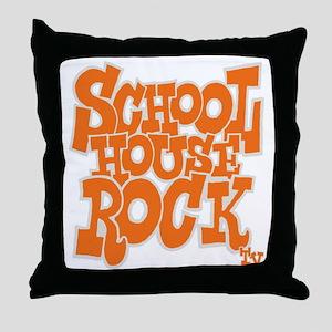2-schoolhouserock_orange_REVERSE Throw Pillow