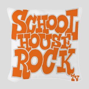 2-schoolhouserock_orange_REVER Woven Throw Pillow