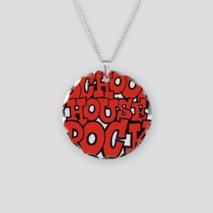 3-schoolhouserock_red Necklace Circle Charm