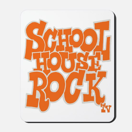 2-schoolhouserock_orange_REVERSE Mousepad