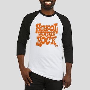 2-schoolhouserock_orange_REVERSE Baseball Jersey