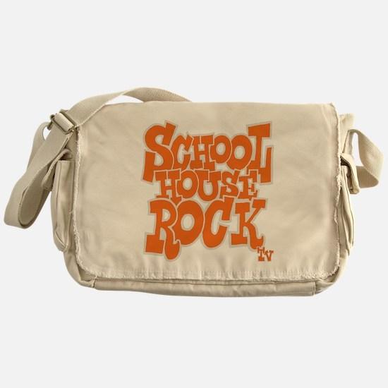 2-schoolhouserock_orange_REVERSE Messenger Bag