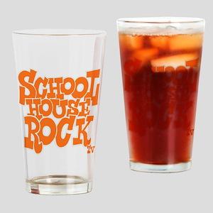 2-schoolhouserock_orange_REVERSE Drinking Glass