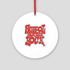 2-schoolhouserock_red_REVERSE Round Ornament