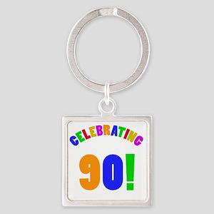 Rainbow 90 Square Keychain