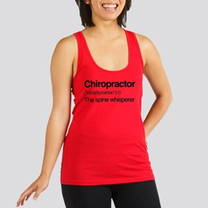 Chiropractor The Spine Whispere Racerback Tank Top