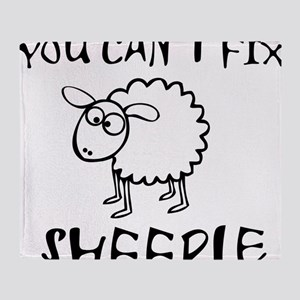 You Cant Fix Sheeple Throw Blanket