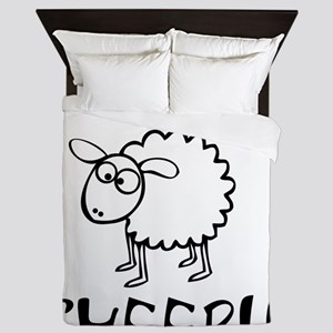 You Cant Fix Sheeple Queen Duvet