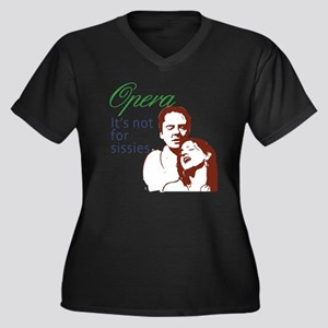 3-opera Women's Plus Size Dark V-Neck T-Shirt