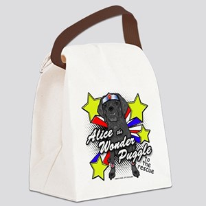 Alice Wonder Puggle Canvas Lunch Bag