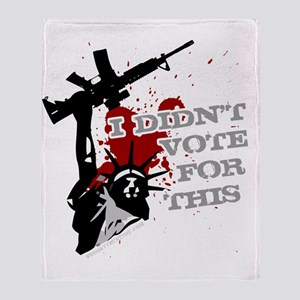 I Didnt Vote For This anti-war prote Throw Blanket
