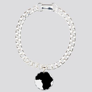 African Continent_Large Charm Bracelet, One Charm