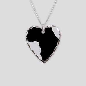 African Continent_Large Necklace Heart Charm